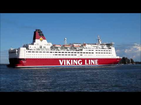 MS Mariella - Viking Line Cruiseferry, Leaving Helsinki South Harbour - Finland
