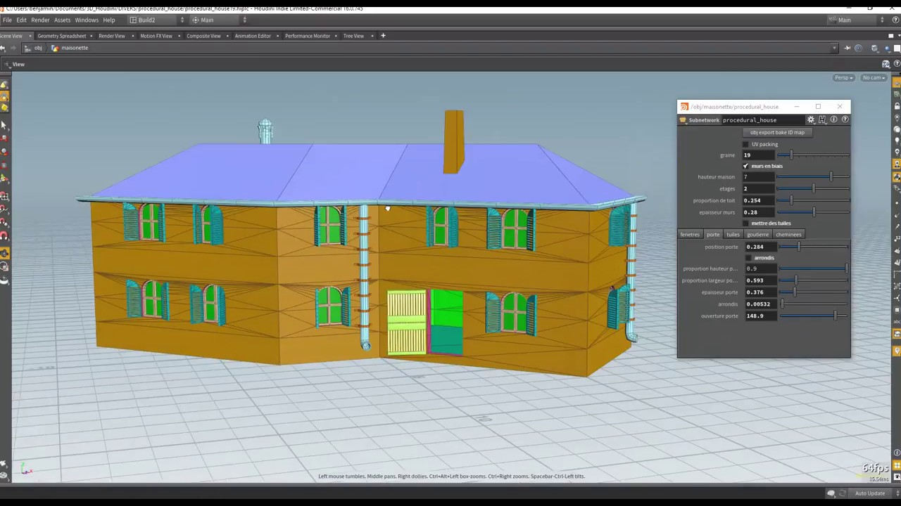 What is the proper workflow to use Houdini 16 0/ 5 and