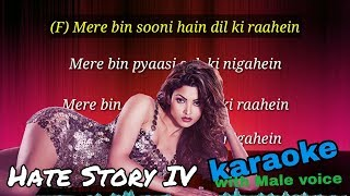 Aashiq Banaya Aapne Karaoke with Male voice and lyrics (Hate Story IV)