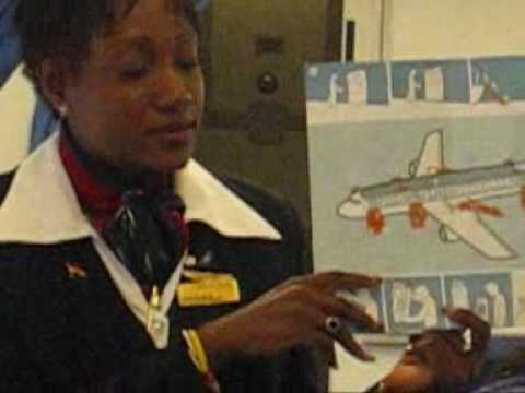 Boeing 767 Safety Demo - Ghana International Airlines