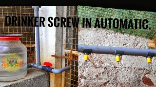 Poultry nipple drinker screw in automatic |Electricalstamiltech
