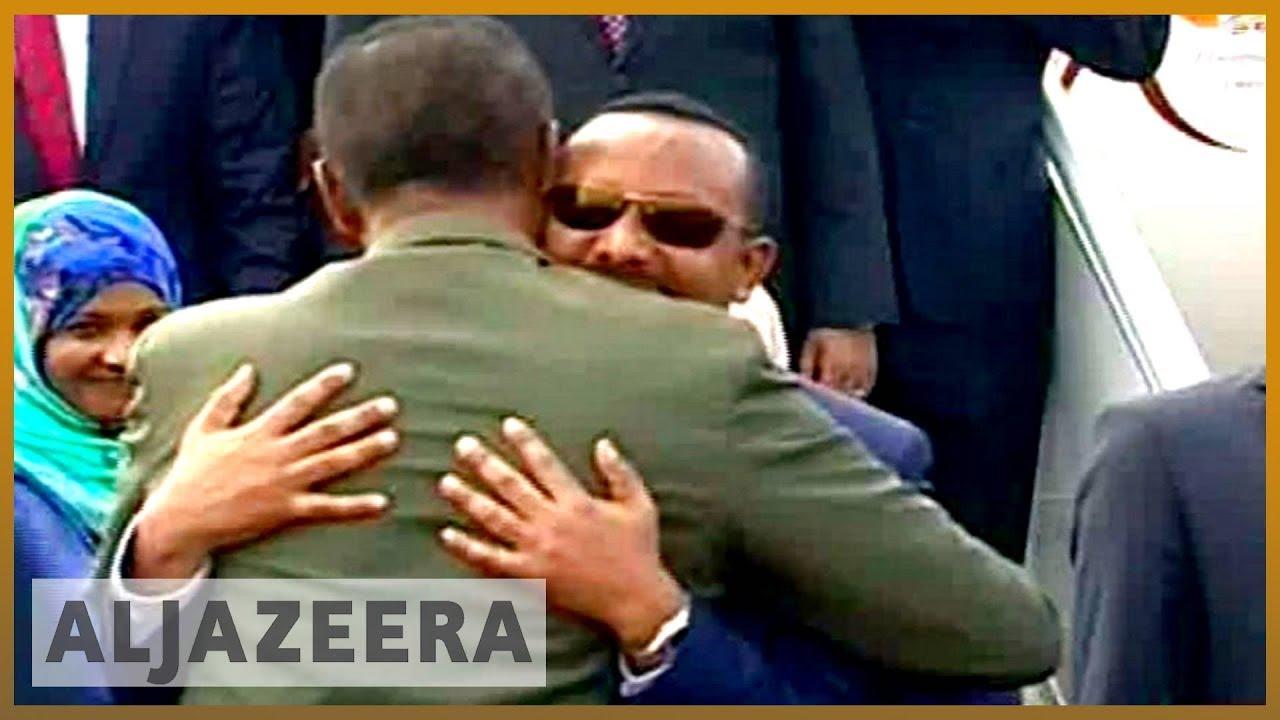 ?? ?? Ethiopia's PM Abiy Ahmed in Eritrea for landmark visit | Al Jazeera English
