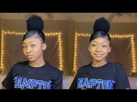 tutorial-|-high-bun-w/-swoop-bang-on-natural-hair-tutorial