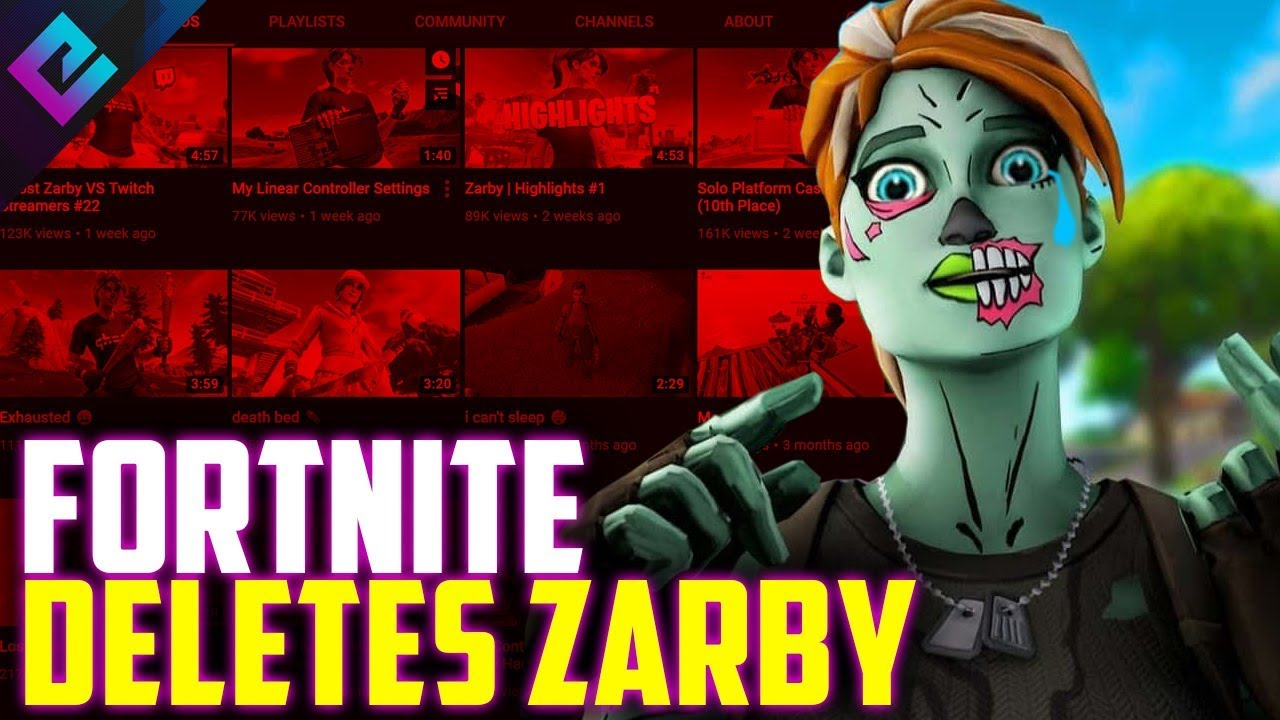 Connor Fortnite Channel Zarby Youtube Channel Deleted After Epic Games Copyright Strikes