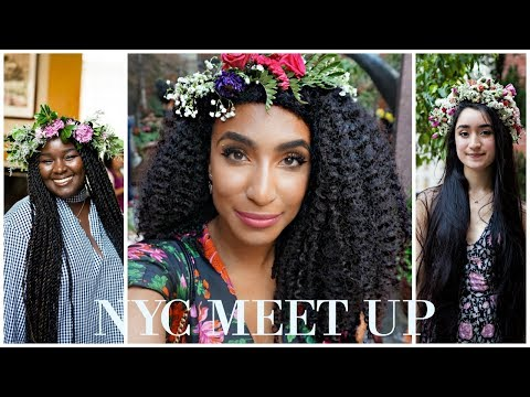 VLOG |Shoulder length to thigh length hair |defining a wash and go| NYC