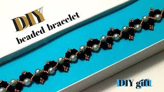 how to make bracelets. beaded bracelets-simple beading pattern