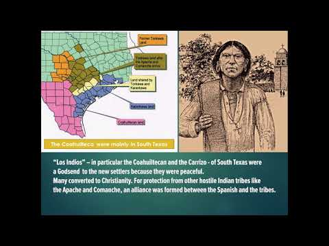 Tejano Talks 38 - Spanish Pioneers and Coahuilteca/Carrizo people in the 1740's South Texas - (2018)