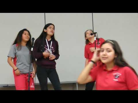 Rayburn middle school girl sings