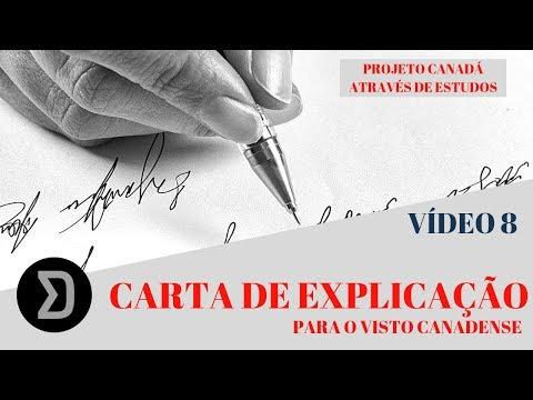 VÍDEO 8 - CARTA DE EXPLICAÇÃO PARA O VISTO CANADENSE