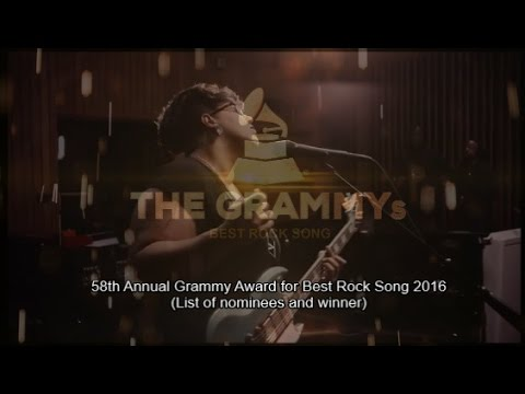 BEST ROCK SONG | 58th GRAMMYs 2016 🏆 (List of nominees and winner)