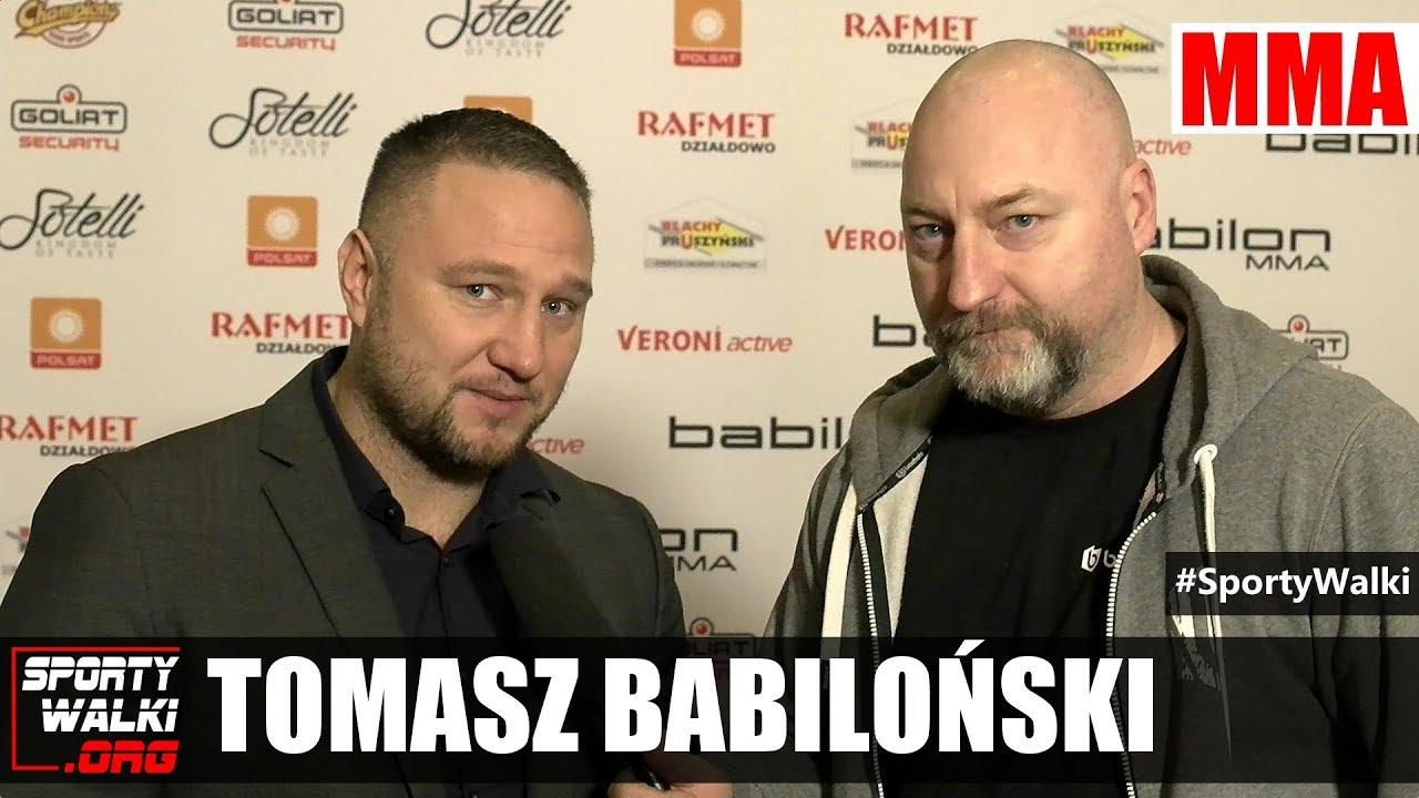 Tomasz Babiloński o podjęciu decyzji wejścia w MMA