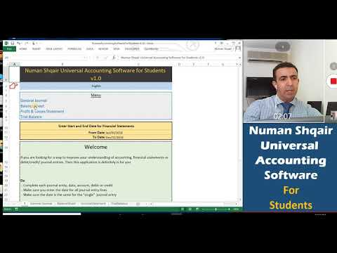 Numan Shqair Universal Accounting Software for Students