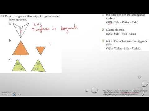 Matematik 5000 Ma 2bKapitel 3GeometriKongruens3235