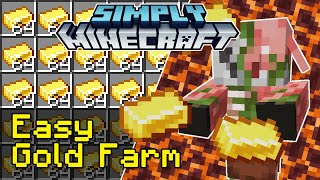 Easy Gold Farm Tutorial | Simply Minecraft (Java Edition 1.16)