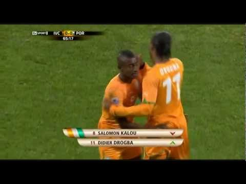 Drogba MAGIC entrance [World Cup 2010] Portugal - Ivory Coast