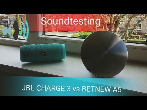 JBL CHARGE 3 vs BETNEW A5 Soundtesting 70$ price difference!