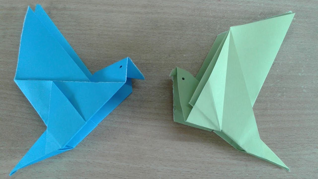 How To Make An Origami Flapping Bird - Folding Instructions ... | 720x1280