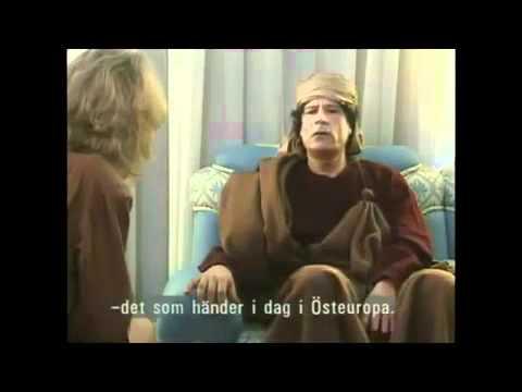 Muammar Gaddafi on swedish television   YouTube