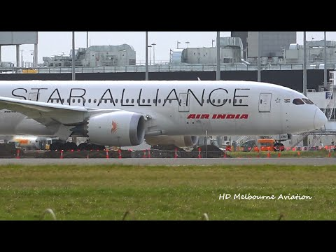 One Of A Kind - Star Alliance Livery - Air India 787-8 Windy Departure Melbourne Airport [VT-ANU]