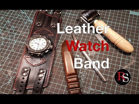 DIY - Making A Leather Watch Cuff / Band