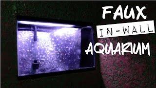 Diy Faux In Wall Aquarium