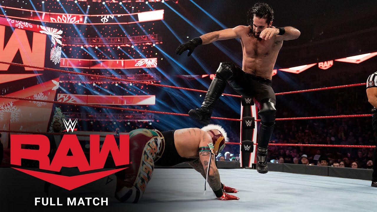 Download FULL MATCH - Rey Mysterio vs. Seth Rollins - United States Championship Match: Raw, Dec. 23, 2019