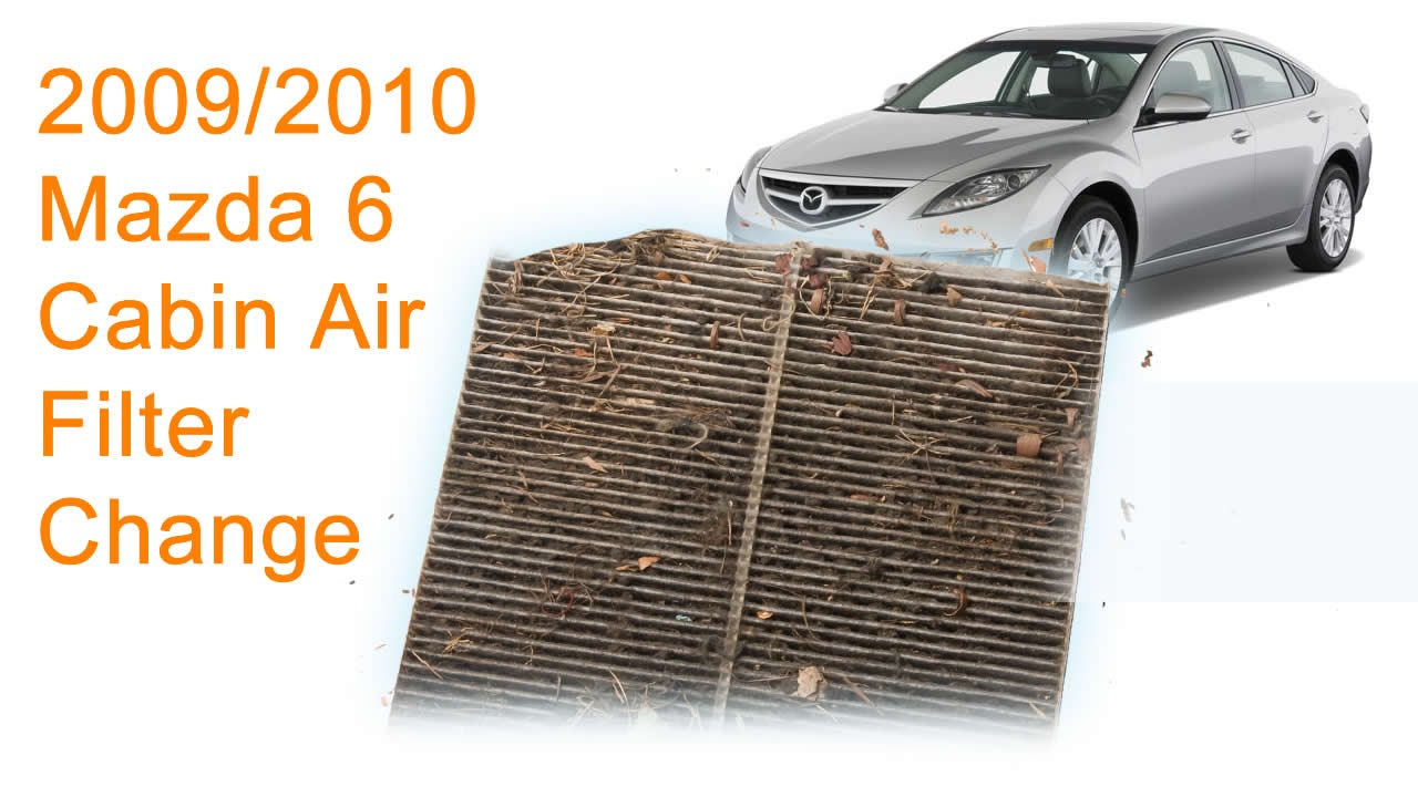 2009 2010 mazda 6 cabin air filter replacement diy [ 1280 x 720 Pixel ]