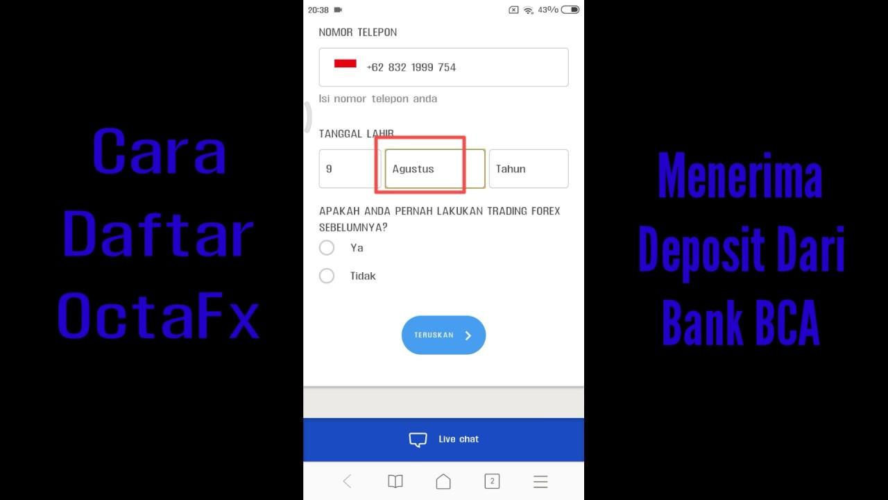 Cara Daftar Octafx Youtube