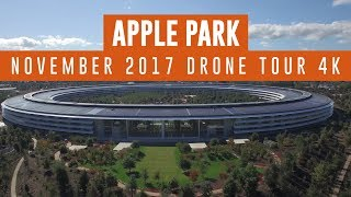 APPLE PARK November 2017 Drone Update 4K