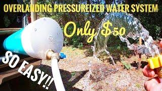 DIY overland portable running water tank system