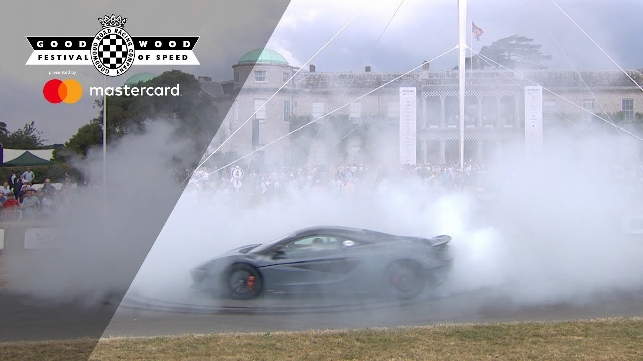 McLaren 600LT smokes up debut at FOS