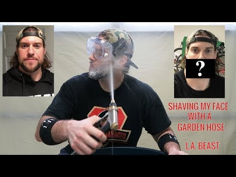 How To Get Rid Of Your Beard Using A Garden Hose | L.A. BEAST