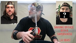 How To Get Rid Of Your Beard Using A Garden Hose   L.A. BEAST