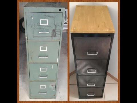 Comment transformer un vieux meuble métallique en superbe meuble design et déco