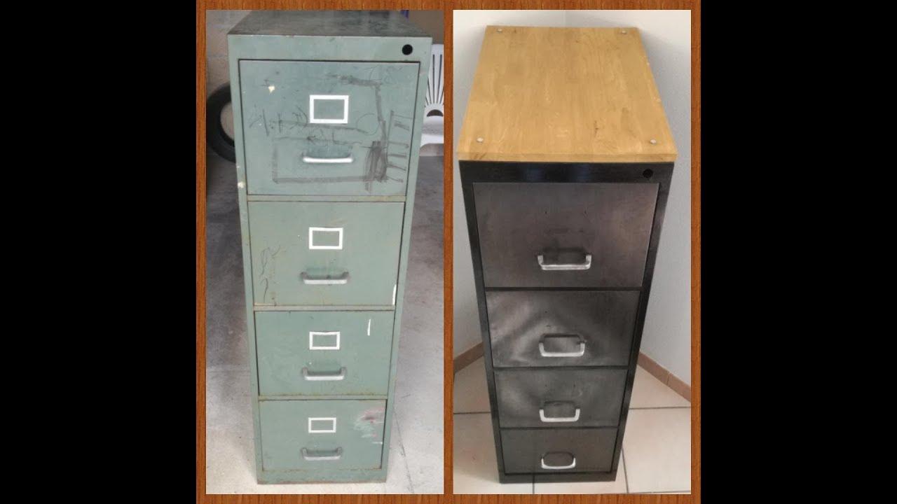 comment transformer un vieux meuble metallique en superbe meuble design et deco