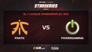 fnatic vs powergaming game 1 sl i league starseries season 3 sea