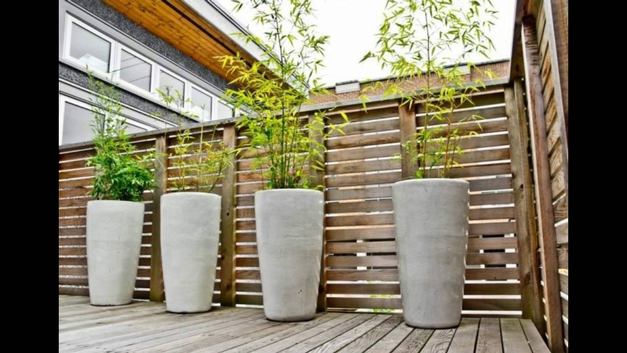 Decorar patios y terrazas con ca as de bambu youtube - Como disenar una terraza jardin ...