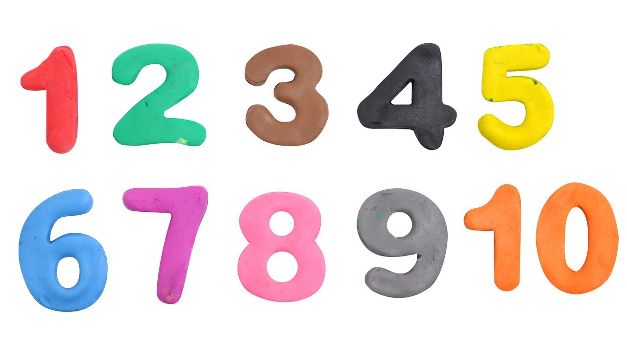 Learn Play Doh Numbers