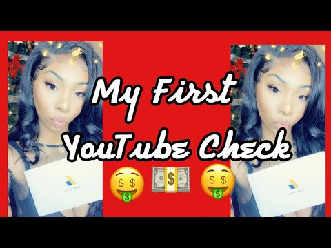 MY FIRST YOUTUBE PAYCHECK!!!! || HOW  MUCH I MADE || SMALL YOUTUBER || CARLERAE