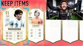 OMG WE PACKED CRUYFF & MARADONA!! ICON PACKS!! FIFA 20