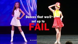 Dances that were set up to fail//Dance Moms