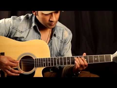 Challa - jab tak hai jaan- intro Guitar Lesson in Hindi for beginners By VEER KUMAR