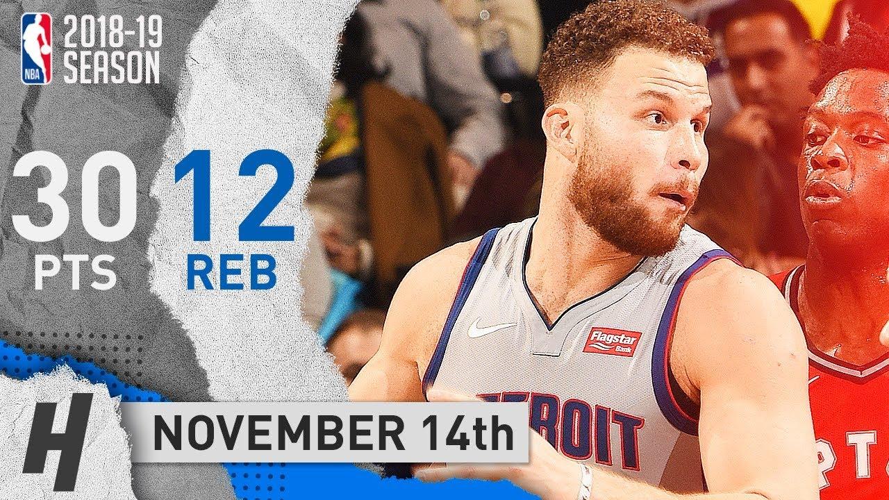 sale retailer a3c56 388b9 Blake Griffin Full Highlights Pistons vs Raptors 2018.11.14 - 30 Pts, 12  Reb, SICK!
