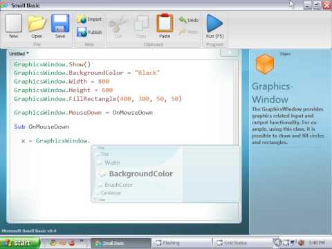 Small Basic Tutorial 5 - Introduction to Graphics Windows ...