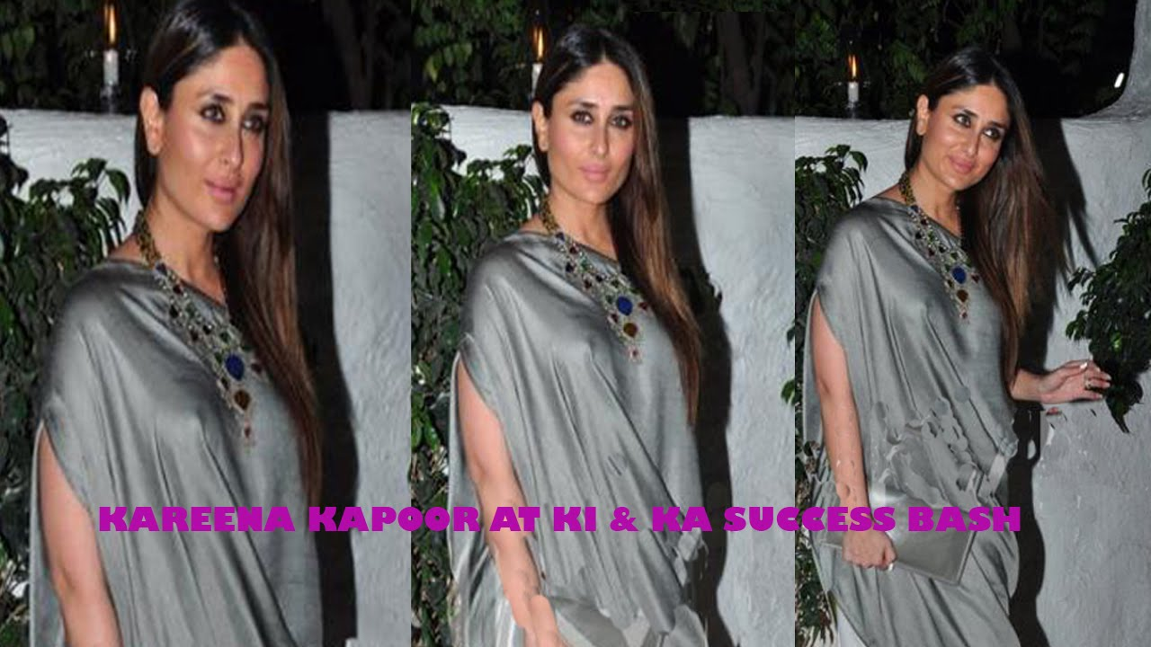 Kareena Kapoor At Ki  Ka Hindi Movie 2016 Success Party