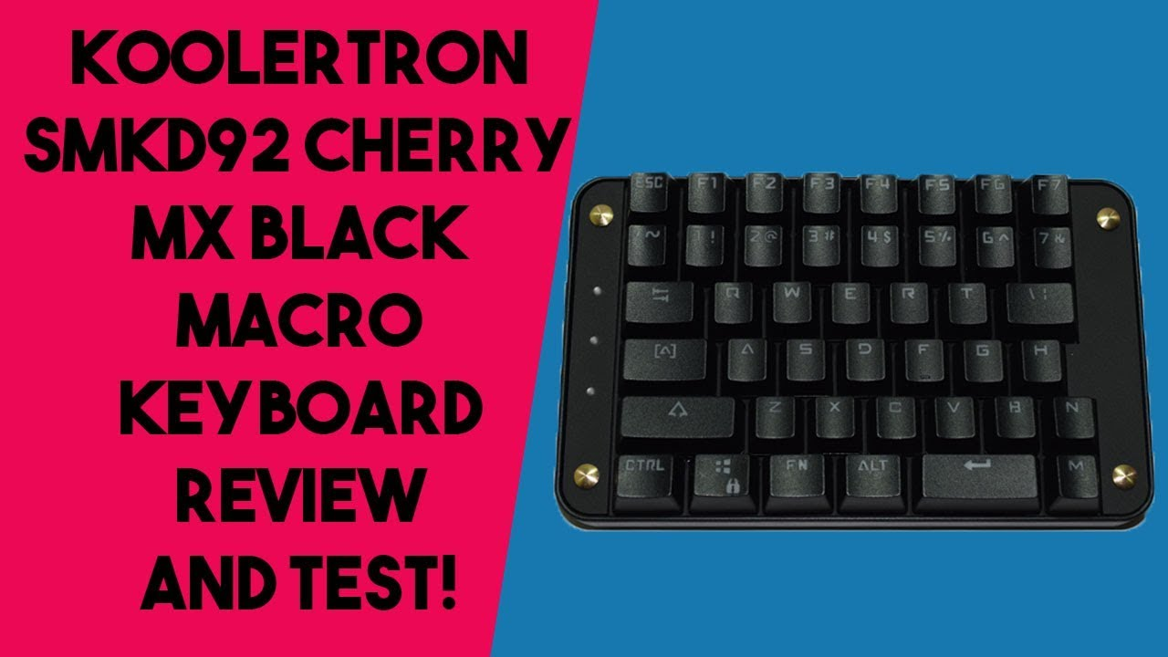 c48ef93f20f Koolertron SMKD92 Macro Keyboard Review and Test! - YouTube