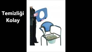 Wc 'li Hasta Seyyar Tuvalet Sandalyesi (Katlana bilir)-www.klozetyukseltici.com