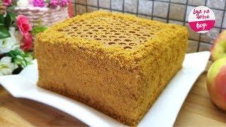 медовик - Торт на столе за 30 минут (Тает во рту) БЕЗ Раскатки коржей
