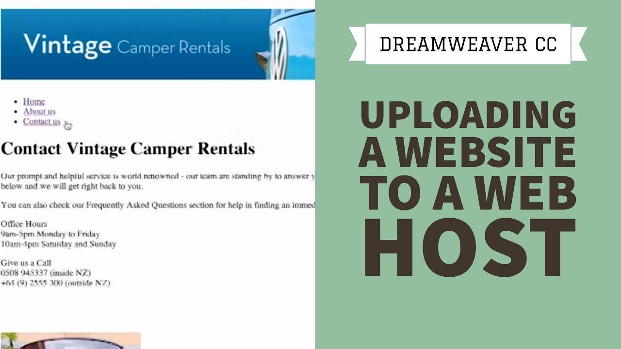 Uploading a website to a web host - Dreamweaver CC Tutorial [14/34]