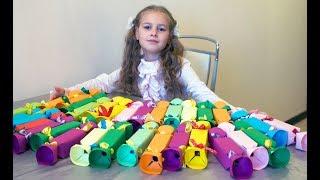 угощения в школу на день рождения/ Коробочка ЦВЕТОК для конфет из бумажного стаканчика/DIY